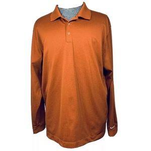 Nike Golf Long Sleeve Dri-Fit Polo Texas Orange XL